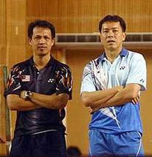 In a quandary: Rexy Mainaky was not consulted by the BAM in the hiring of Tan Kim Her (right) as a coach.