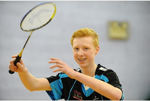 MEDAL JOY: Jack Buckley had an excellent 2013 in the world of badminton with local, county and England success.