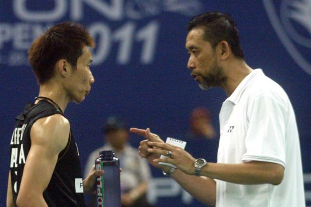 The student and his mentor. This filepic shows Lee Chong Wei and long-time coach Misbun Sidek together at the Malaysian Open tournament in 2011 before Misbun left the BAM.