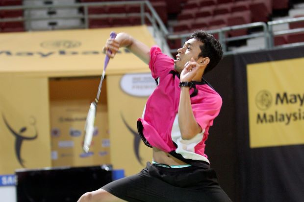 National back-up shuttler Iskandar Zulkarnain, seen here in training, will compete in the week-long Djarum Super League in Surabaya with his fellow team-mates, beginning Tuesday.