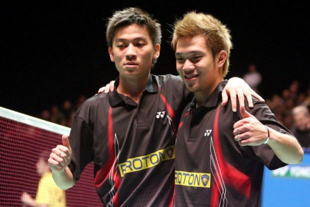 Koo Kien Keat (right) and Tan Boon Heong reached the nadir of their career after crashing out of the opening round in the Malaysian Open in January 2014 prompting a directive to freeze them from playing pending an inquest.