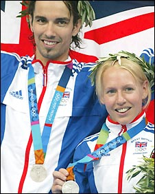 Robertson won silver at the 2004 Olympics with Gail Emms