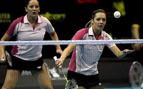 Doubles exposure: Gabby White and Jenny Wallwork (left) are emerging talent for England