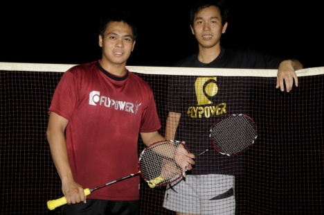 Markis Kido, left, and Hendra Setiawan secured a new sponsorship deal in their first act as professional shuttlers.