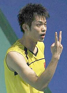 Two of us?: Lin Dan of China is the favourite to enter the All-England final with Malaysia's Lee Chong Wei.