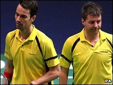 Robertson and Clark fell to the seventh seeds