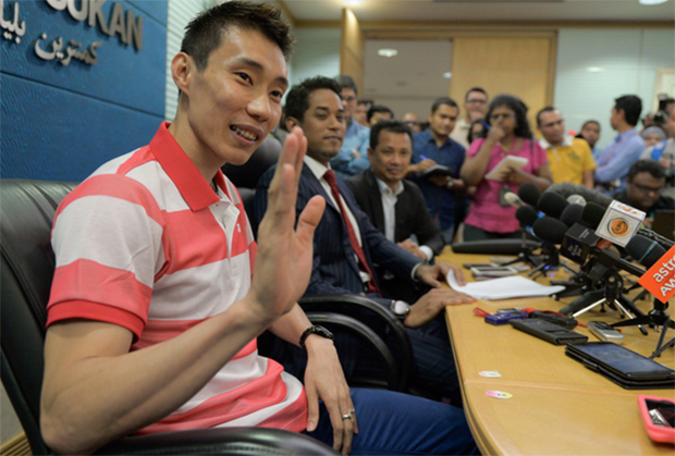 Lee Chong Wei drops to 45th, BAM to decide if he could play at world champs