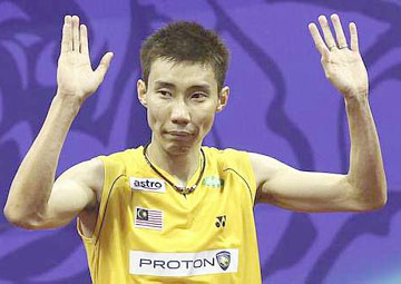 Thanks for the support: Lee Chong Wei has already won five titles this year.