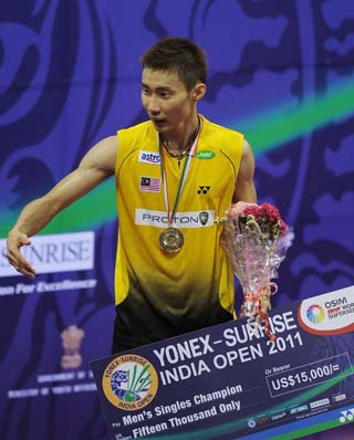 Lee Chong Wei, Porntip win India Open Super Series