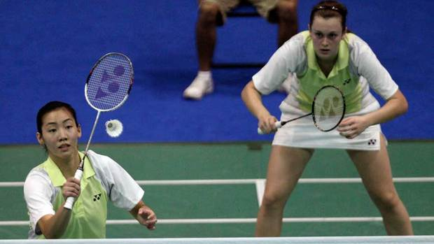 Michelle Li, left, and Alexandra Bruce won women's doubles gold at the Pan Am Games in Mexico in October, and Li added the women's singles title.