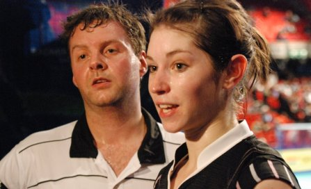 Success: Anthony Clark and Heather Olver's form has improved
