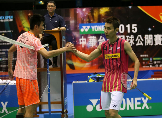 Lee Chong Wei loses quarter-final to Chen Long at Chinese Taipei Open