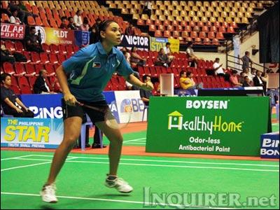 Philippines' team player Fatima Cruz lost to Mong Kwan Yi of Hong Kong in the first round of the RP Open