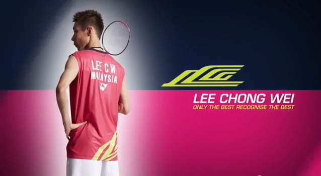 Lee Chong Wei plays 'pink' in World Champs