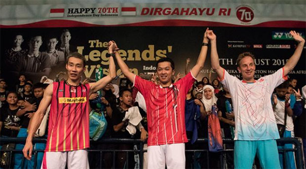 Lee Chong Wei, Taufik Hidayat, Peter Gade join Yonex the Legends' Vision in Jakarta