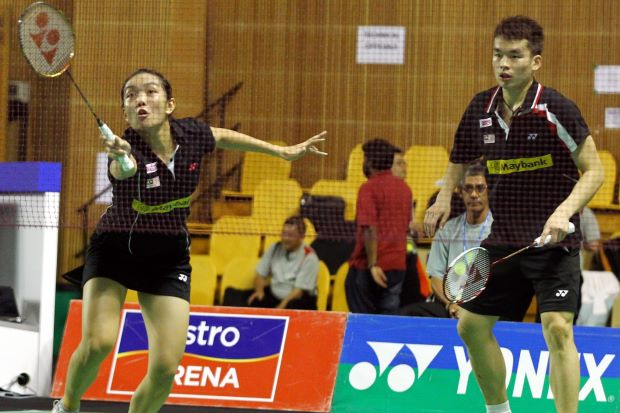 Tan Aik Quan (right) and Lai Pei Jing are the second ranked mixed pair in Malaysia.