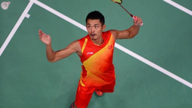 Lin Dan in action last year before his year out. The badminton superstar moved effortlessly through to the second round of the world championships in China's Guangzhou on Monday, putting in a powerful performance after a year on the sidelines.
