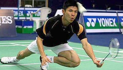 One for the oldies: Wong Choong Hann making a return in the win over Finland's Ville Lang yesterday.