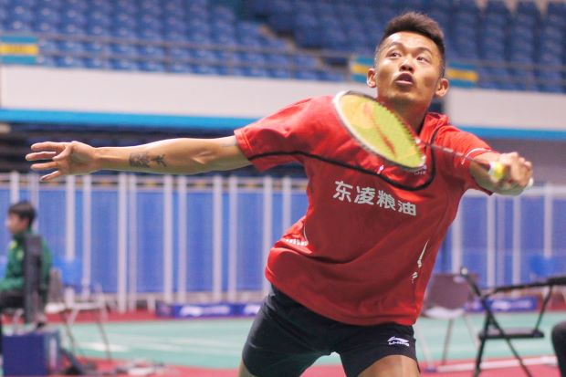 Formidable foe: Lin Dan of China.