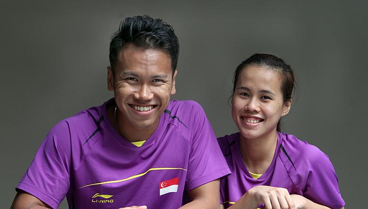 Singapore shuttlers Vanessa Neo (right) and Danny Bawa Chrisnanta's campaign at the badminton world championships have come to an end, after the mixed doubles pair lost in their opening match to South Korea's Shin Baek Choel and Eom Hye Won on Tuesday, Aug 6, 2013.