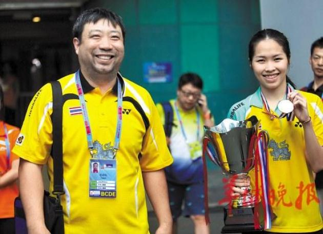 "That man beaming in many pictures behind Thai badminton world champion Ratchanok ""May"" Intanon is Xie Zhihua, her Chinese coach and, for her, a second father."