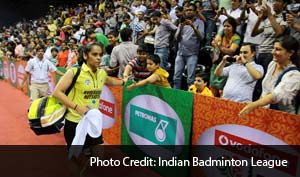 After a 21-19 21-8 win, Saina said that Sindhu has a bright future ahead of her.
