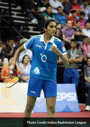 PV Sindhu then started to lose her grip over the match with costly unforced errors. Saina won the first game 21-19.