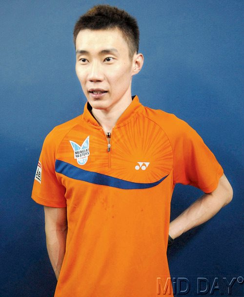 Mumbai Masters Lee Chong Wei at the Sardar Vallabhbhai Patel Stadium yesterday.