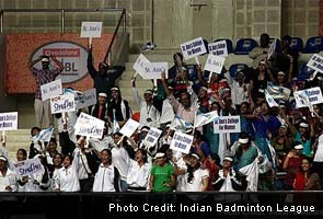 Crowd At Indian Badminton League