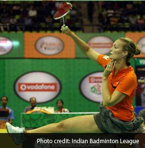 34-year-old Tine Baun of the Mumbai Masters is ranked World No.11 and a three-time all-England champ.