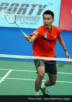 Lee Chong Wei seals it, beats Gurusaidutt 21-15 21-7 to give Mumbai Masters 1-0 lead over Awadhe Warriors.