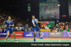 Markis Kido-Mathias Boe beat Pranav Chopra-Sumeeth Reddy 21-15 21-10 in men's doubles to give Awadhe Warriors a 2-1 lead over Mumbai Masters.
