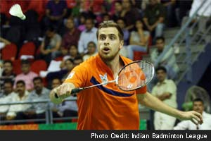 Vladimir Ivanov beats K Srikanth 21-20 21-19 and Mumbai Masters level it 2-2 against Awadhe Warriors.
