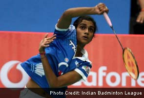 Sindhu pulls one back for Awadhe Warriors after beating Tine Baun 21-16 21-13 in the women's singles.