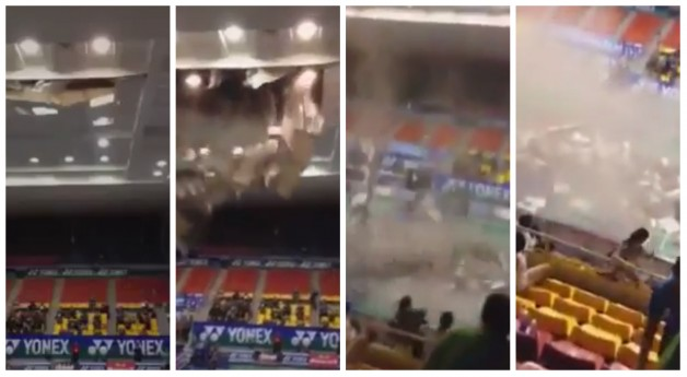 Roof Collapse At Vietnam GP Open