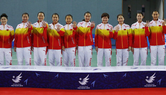 Asian Games Women's Team F: China defeat Korea 3-0