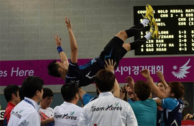 Korea stun China for Asian Games men's team gold
