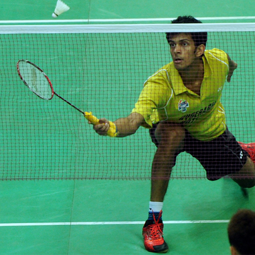 Ajay Jayaram, who won the second men's singles and secured the victory for the Hyderabad Hotshots