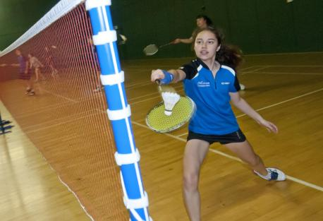 Tilly Ip takes part in a 24-hour badminton marathon
