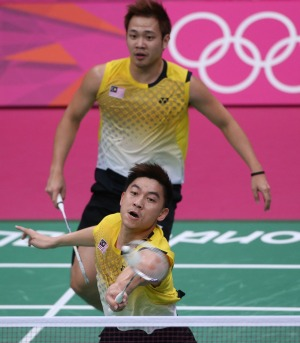 Heading for a split: Tan Boon Heong (front) and Koo Kien Keat will end their partnership in December.