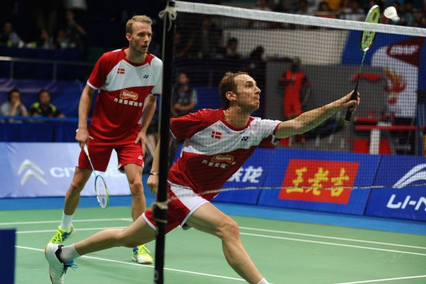 Mathias Boe-Carsten Mogensen in a file photo. The pair have played 343 matches together and won a silver medal at the London Olympics.