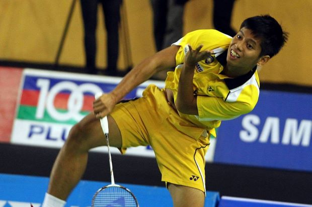 Mohd Arif Abdul Latif. The former international is the last man standing in the men's singles event of the Malaysia International Challenge. He faces Ashton Chen of Singapore on Saturday for a place in the final.