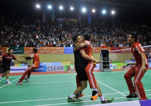 The pair sparked jubilation among the raucous home crowd