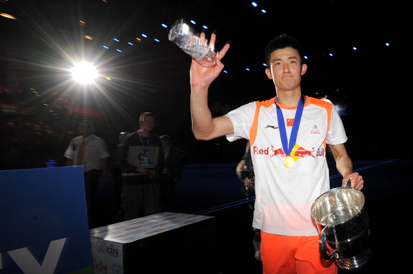 The All England Open Badminton Championships attracts the world's top players, including the likes of China's Chen Long, pictured here after winning the men's singles match against Malaysia's Lee Chong Wei in 2013