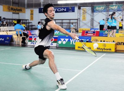 Not good enough: Liew Daren put up a fighting display before going down to China's Chen Jin 15-21, 21-19, 11-21 at the National Indoor Arena in Birmingham.