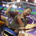 Looking for revenge: Indonesia's Taufik Hidayat during a training session at the City Stadium in Johor Baru yesterday. Taufik lost to Lee Chong Wei in the final of the Indonesian Open on Sunday.