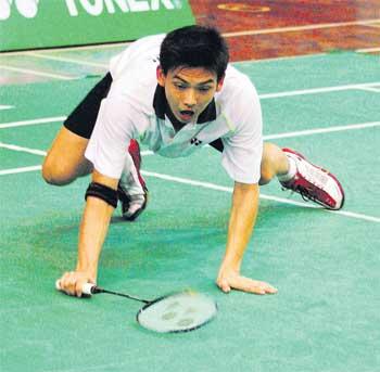 Malaysia's Kuan Beng Hong beat Petr Koukal of the Czech Republic 21-23, 21-17, 21-19.