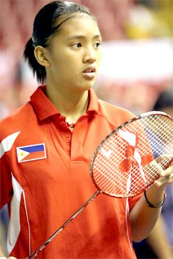 Malvinne Ann Venice Alcala reaches the women's singles quarterfinals.