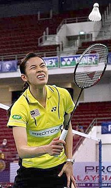 Sad exit: Mew Choo reacting to the loss to Ji-hyun.