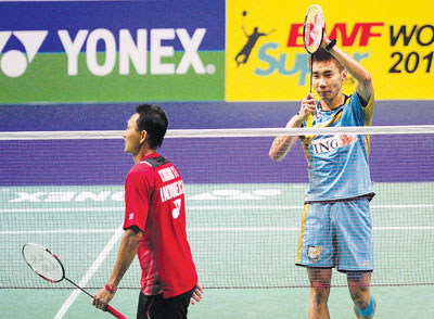 Lee Chong Wei defeated Sony and moved into the quarter-finals